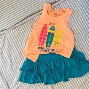 GUC girls skirt and tank outfit size 7-8-6x